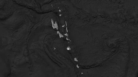 Vanuatu and capital circled and zoomed. Bilevel Animation