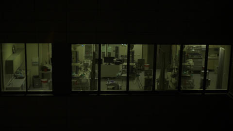 hospital windows at night, modern hospital view from outside Live Action