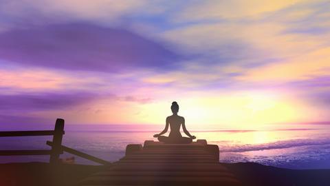Meditation to the sound of sea waves Videos animados