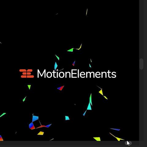 4KVR用背景(幾何学・レインボー)アルファチャンネル付き After Effectsテンプレート