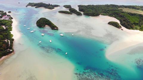 石垣島の川平湾でのドローン空撮、前進/俯瞰 ライブ動画