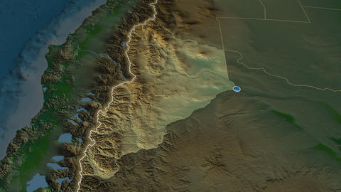 Neuquen - province of Argentina. Physical Animation
