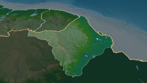Amapá - state of Brazil. Physical Animation