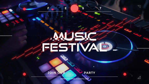 Music Festival Promo After Effects Template