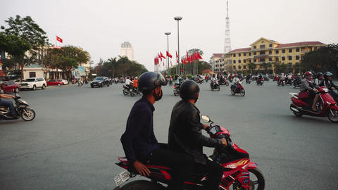 Congested Road In Hue, Busy Rush Hour, Infrastructure, Transportation, Vietnam Live Action