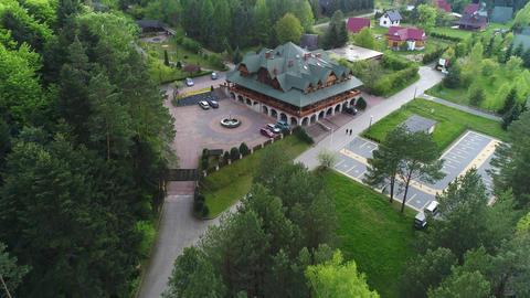 Hotel complex in the pine forest. Top view Acción en vivo