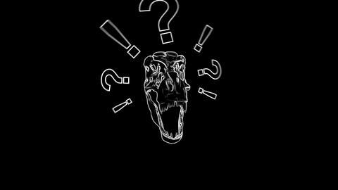 T-Rex Skull Loop 01 Videos animados