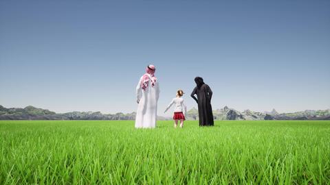 Saudi Arabia parents uae kids Happy family Live Action