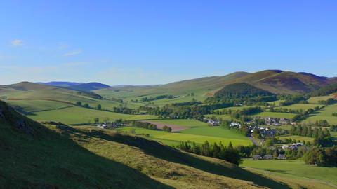 Scottish Borders Village In Summer Live Action