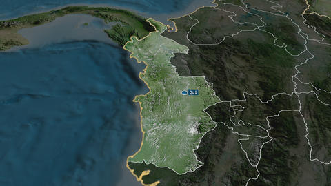 Chocó - department of Colombia. Satellite Animation