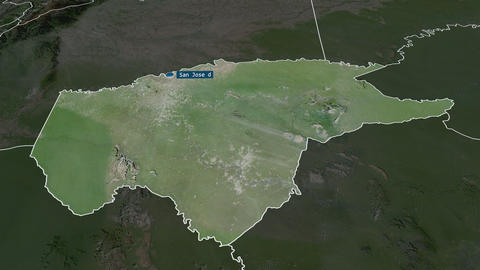 Guaviare - commissiary of Colombia. Satellite Animation