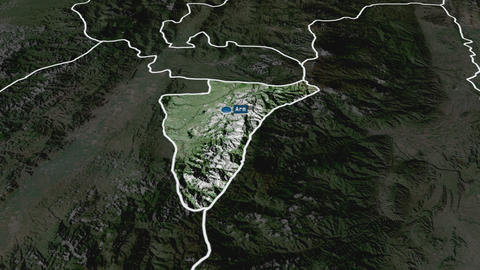 Quindío - department of Colombia. Satellite Animation