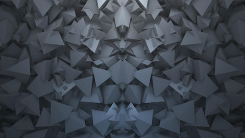 Motion dark black geometric shapes, abstract background Animation
