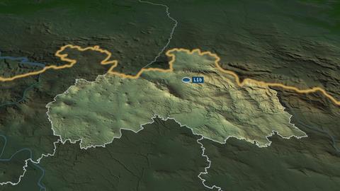 Liberecký - region of Czech-Republic. Physical Animation