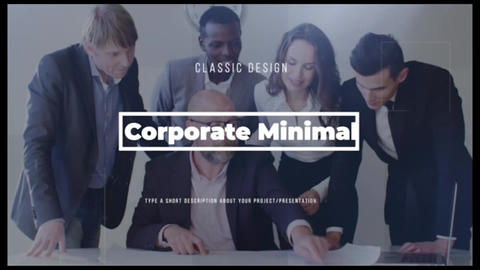 Corporate Minimal Apple Motion Template