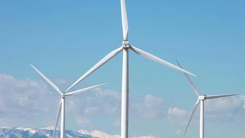 Windmill green technology power P HD 8847 Footage