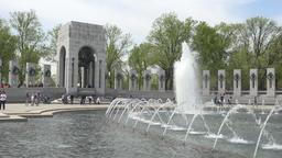 World War II Memorial fountain Pacific Washington DC 4K 043 Footage