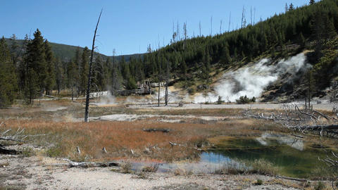 Yellowstone Artist Paintpot P HD 2630 Footage