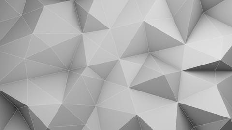 White low poly 3D surface chaotic waving loopable Animation