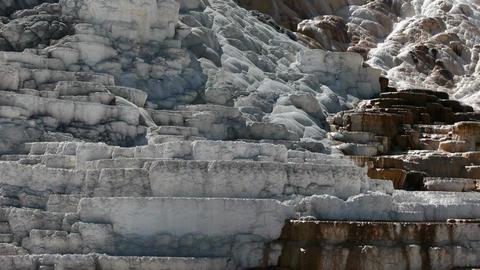 Yellowstone Mammoth Terraces close P HD 2468 Footage