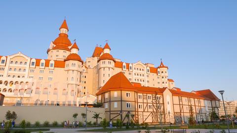 Hotel Bogatyr. Sochi-Park Adler, Russia Footage