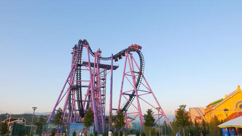 The attraction at an amusement park. Sochi-Park Adler, Russia Footage