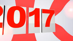 New year 2017 text Animation