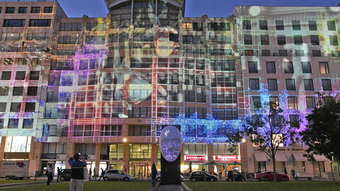 Potsdamer Platz by night Footage