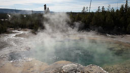Yellowstone Norris hot pool P HD 2492 Footage