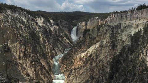 Yellowstone River Grand Canyon Lower Falls 4K GIF