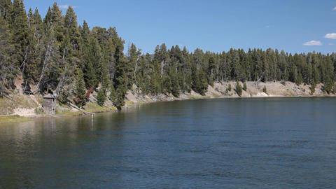 Yellowstone River from Fishing Bridge 2 P HD 2325 Footage