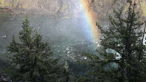 Yellowstone River rainbow P HD 2392 Footage