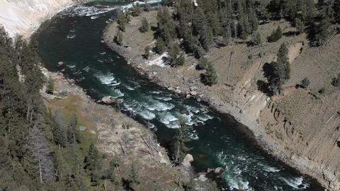 Yellowstone River valley tilt P HD 2456 Footage