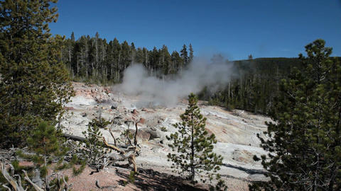 Yellowstone Steamboat Geyser P HD 2502 Footage