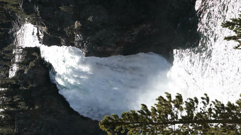 Yellowstone Waterfalls vertical P HD 2348 Footage