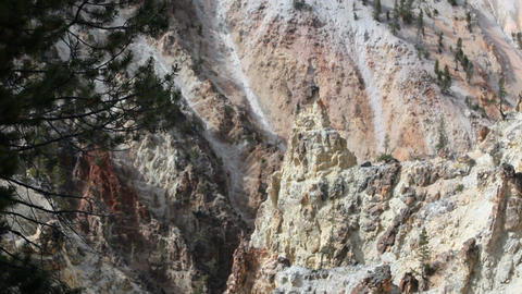 Yellowstone canyon colorful P HD 2360 Footage