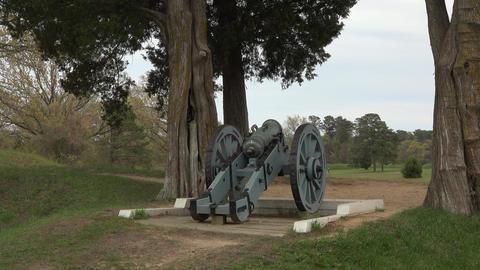 Yorktown Virginia cannon revolutionary war battlefield 4K Footage