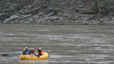 Yukon River raft Alaska recreation P HD 1422 Footage