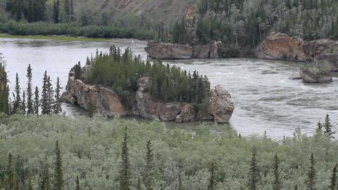 Yukon Territory River islands P HD 1400 Footage