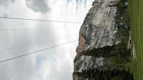 Zipline mountains of Utah verticle P HD 0815 Footage