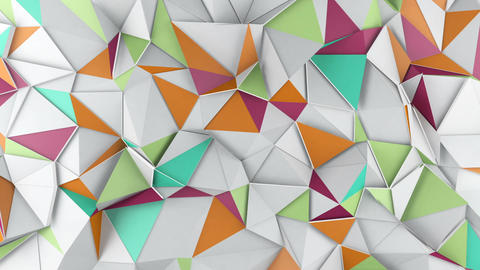 Polygonal 3D surface waving loopable Animation