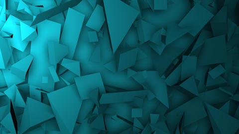 Motion green geometric shapes, abstract background Animation