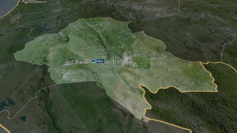 Ngounié - province of Gabon. Satellite Animation