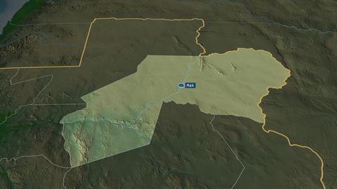 Ogooué-Ivindo - province of Gabon. Physical Animation