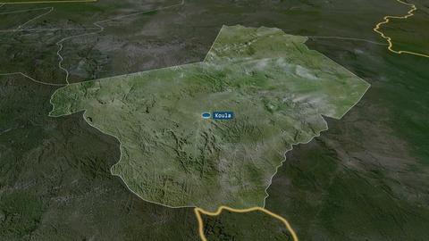 Ogooué-Lolo - province of Gabon. Satellite Animation