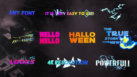 Creative Colorful Titles Motion Graphics Template