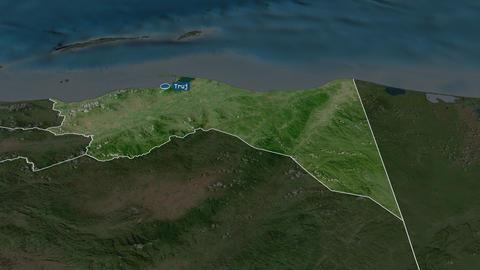 Colón - department of Honduras. Satellite Animation