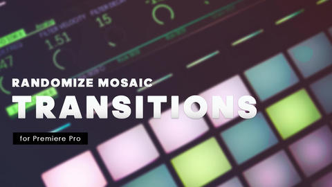 Transitions - Randomize Mosaic Premiere Proテンプレート