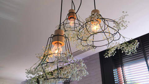 Beautiful decorated lamps Live Action