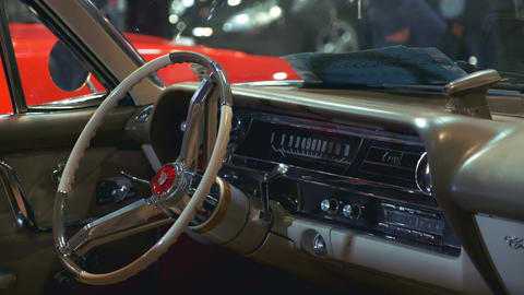 Beautiful interior of vintage vehicle Live Action